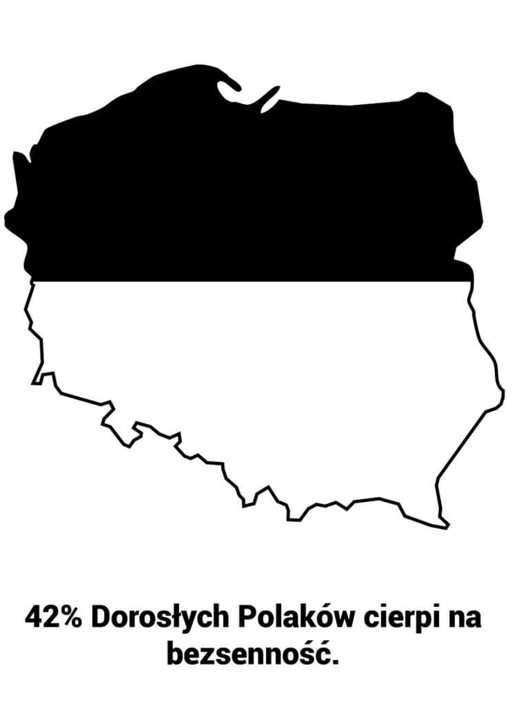 42% Dorosłych Polaków cierpi na bezsenność.