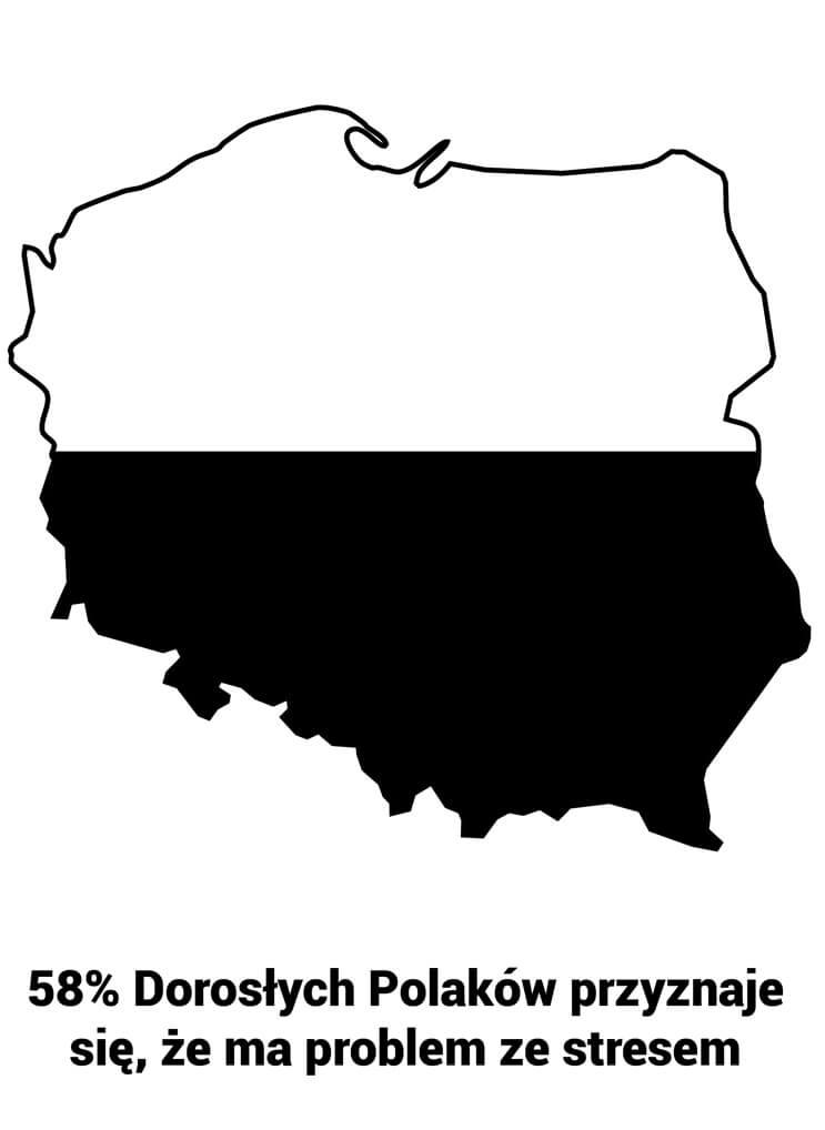 58% Dorosłych Polaków przyznaje się, że ma problem ze stresem.
